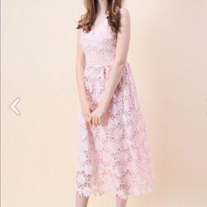 Pink Chicwish Lace Dress